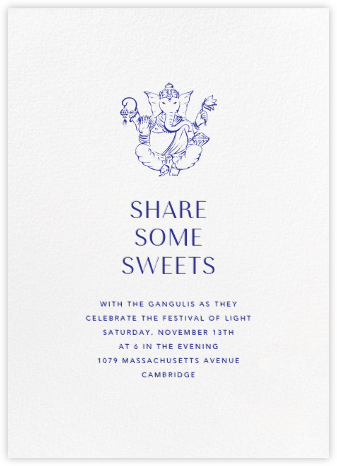 White (Tall) - Paperless Post - Diwali invitations