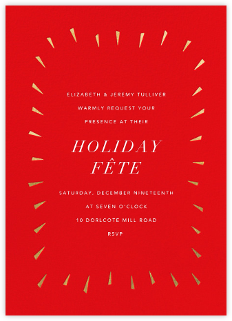 Éclat - Red/Gold - Paperless Post - Holiday party invitations