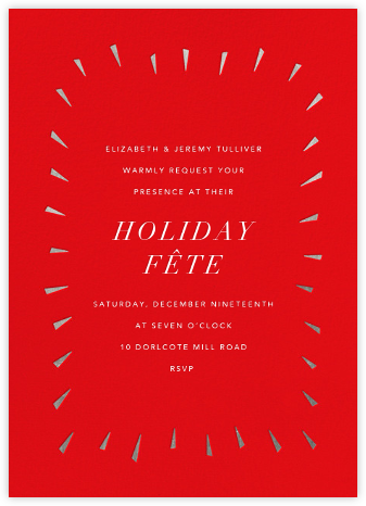 Éclat - Red/Silver - Paperless Post - Holiday invitations