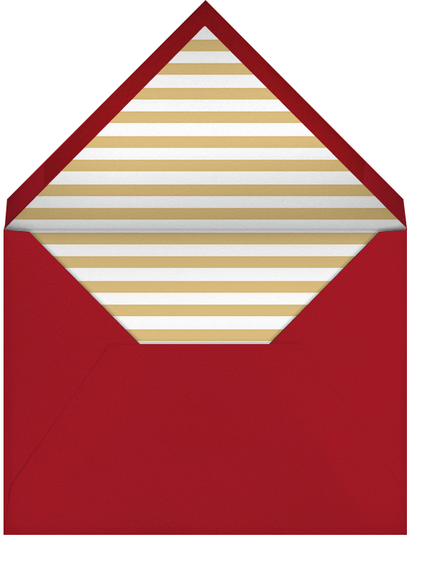 Éclat (Horizontal Photo) - Red/Gold - Paperless Post - Holiday cards - envelope back