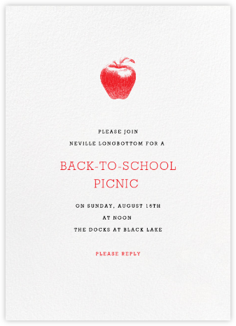 White (Tall) - Paperless Post - Back-to-school invitations