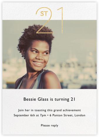 Decade Photo (Twenty-One) - Gold - Paperless Post - Milestone Birthday Invitations