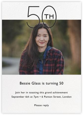 Decade Photo (Fifty) - Black - Paperless Post - Adult Birthday Invitations