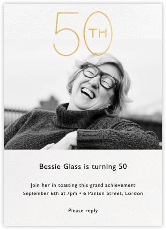 Decade Photo (Fifty) - Gold - Paperless Post - Milestone birthday invitations