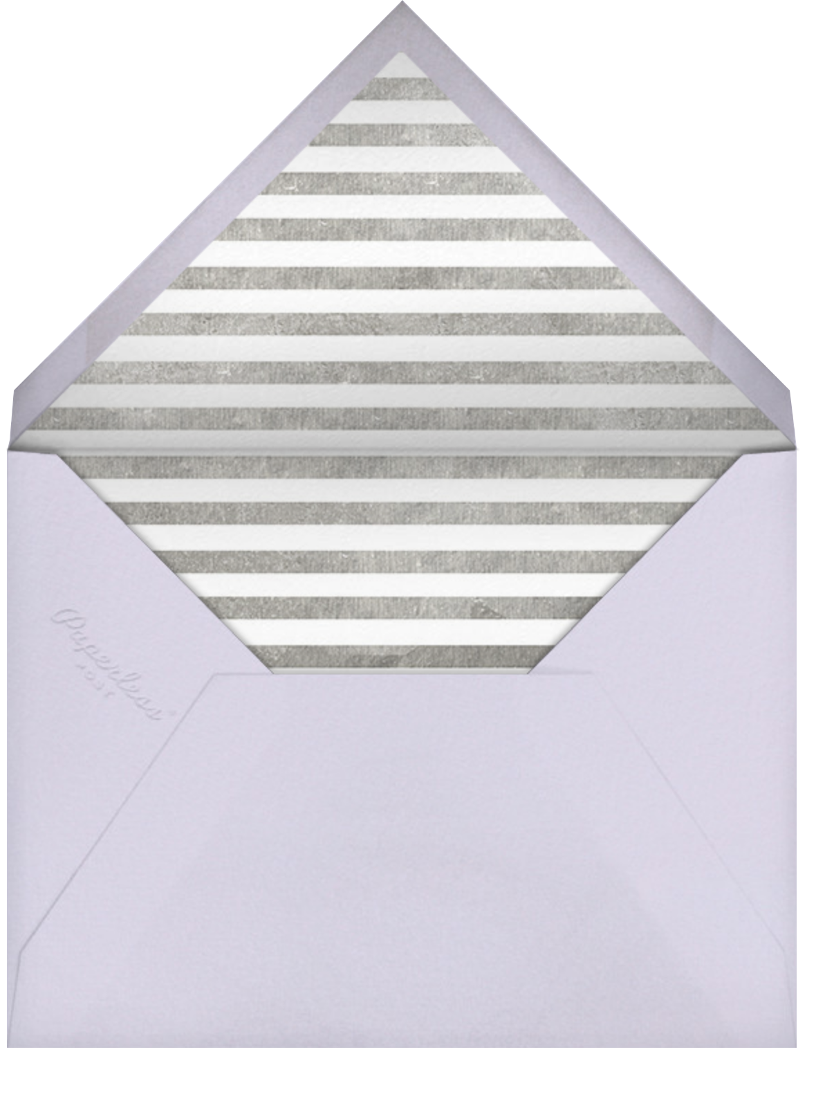 Decade Photo (Fifty) - Silver - Paperless Post - 50th birthday invitations - envelope back