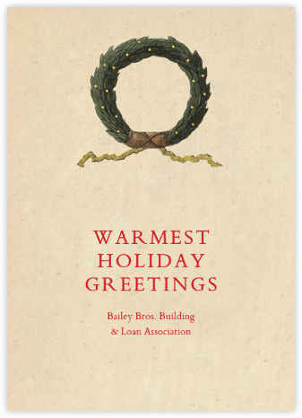 Holiday Wreath - John Derian - Business holiday cards