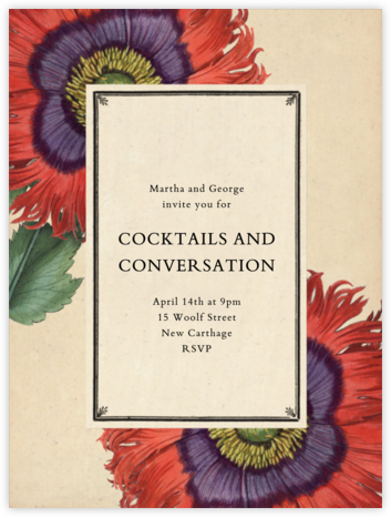 Derian Poppies (Tall) - John Derian - Engagement party invitations