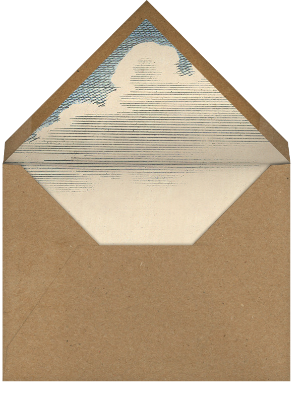 Hot Air Balloon - Red/Blue - John Derian - Retirement party - envelope back