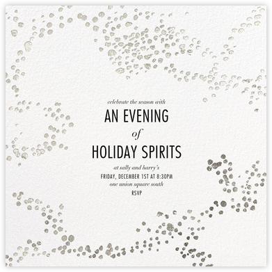 Evoke (Square) - White/Silver - Kelly Wearstler - Holiday invitations