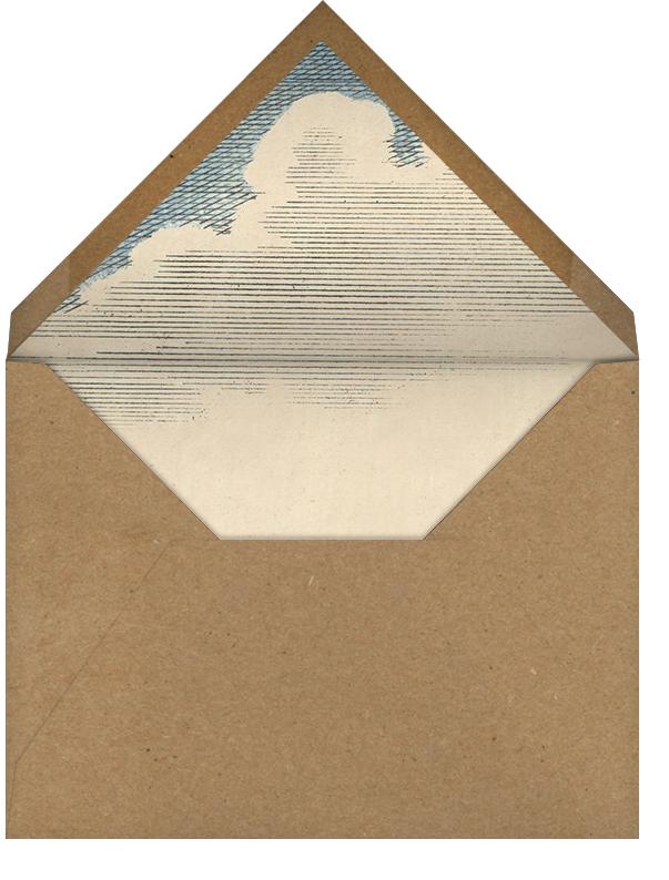 Hot Air Balloon - Blue - John Derian - Retirement party - envelope back