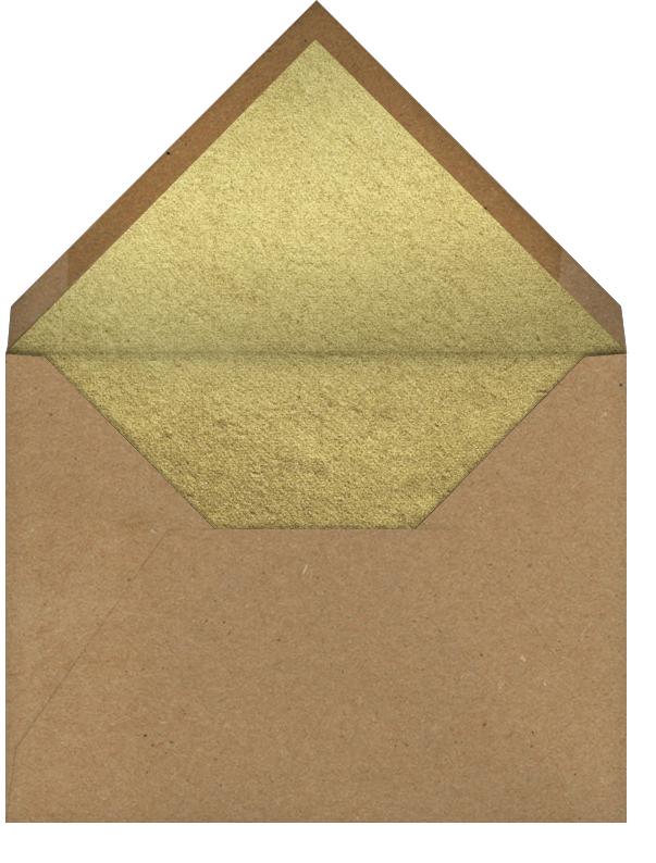 Star - Gold - John Derian - New Year's Eve - envelope back