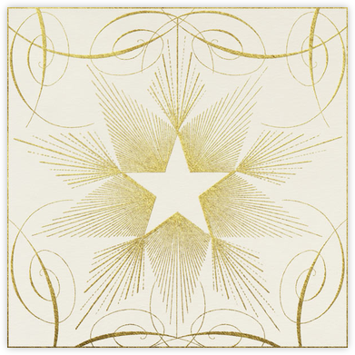 Star - Gold - John Derian - New Year's Eve Invitations