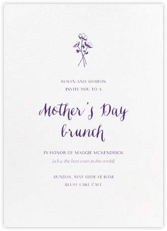 White (Tall) - Paperless Post - Online Mother's Day invitations