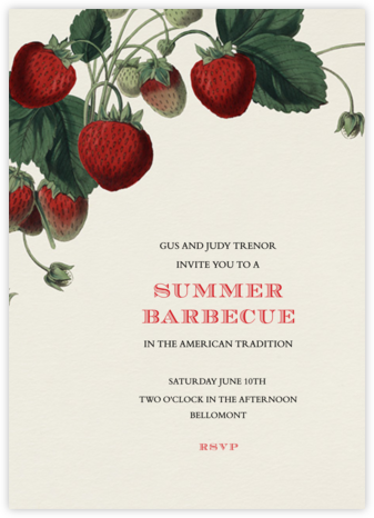 Strawberries (Tall) - John Derian - Summer Party Invitations