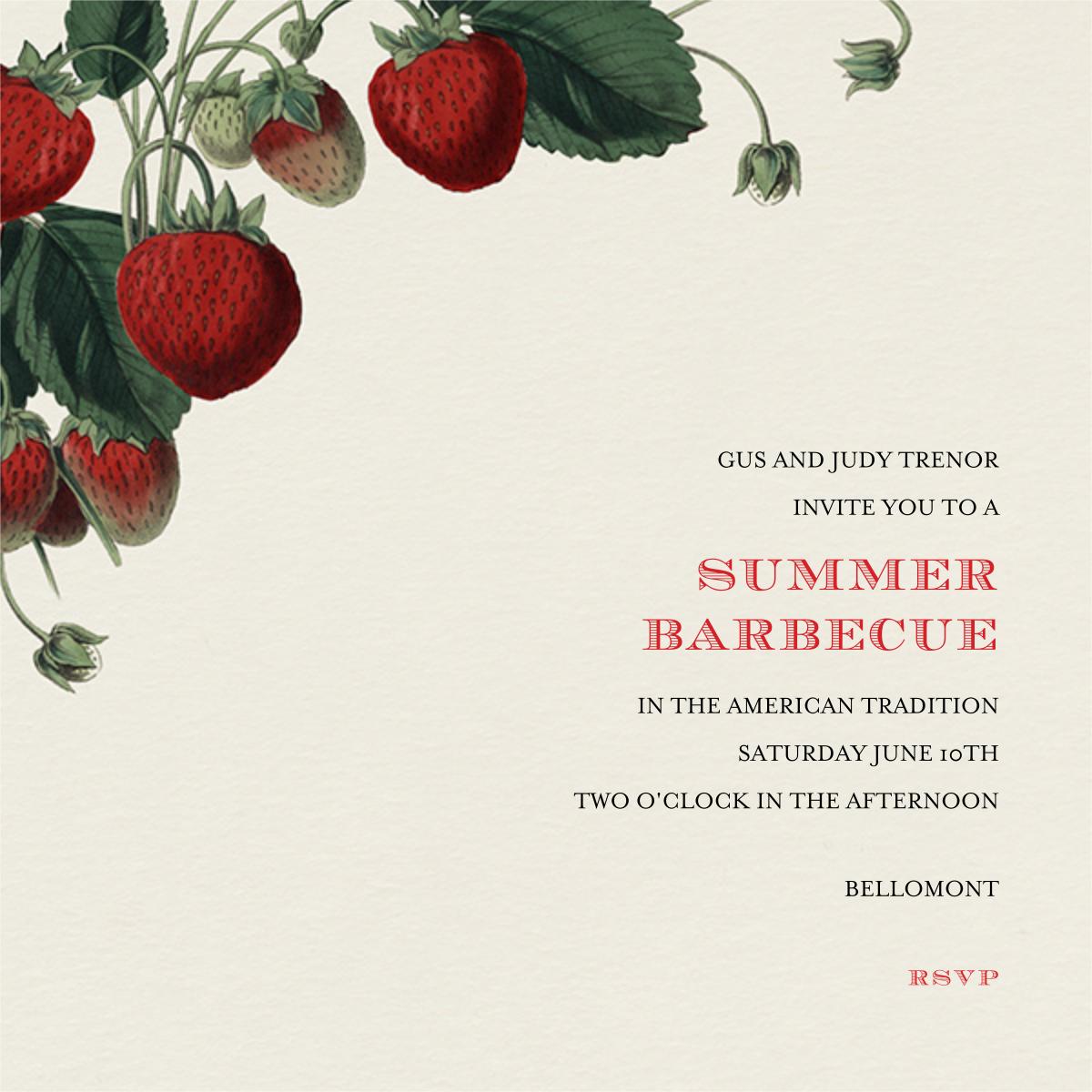Strawberries (Square) - John Derian - Summer entertaining invitations