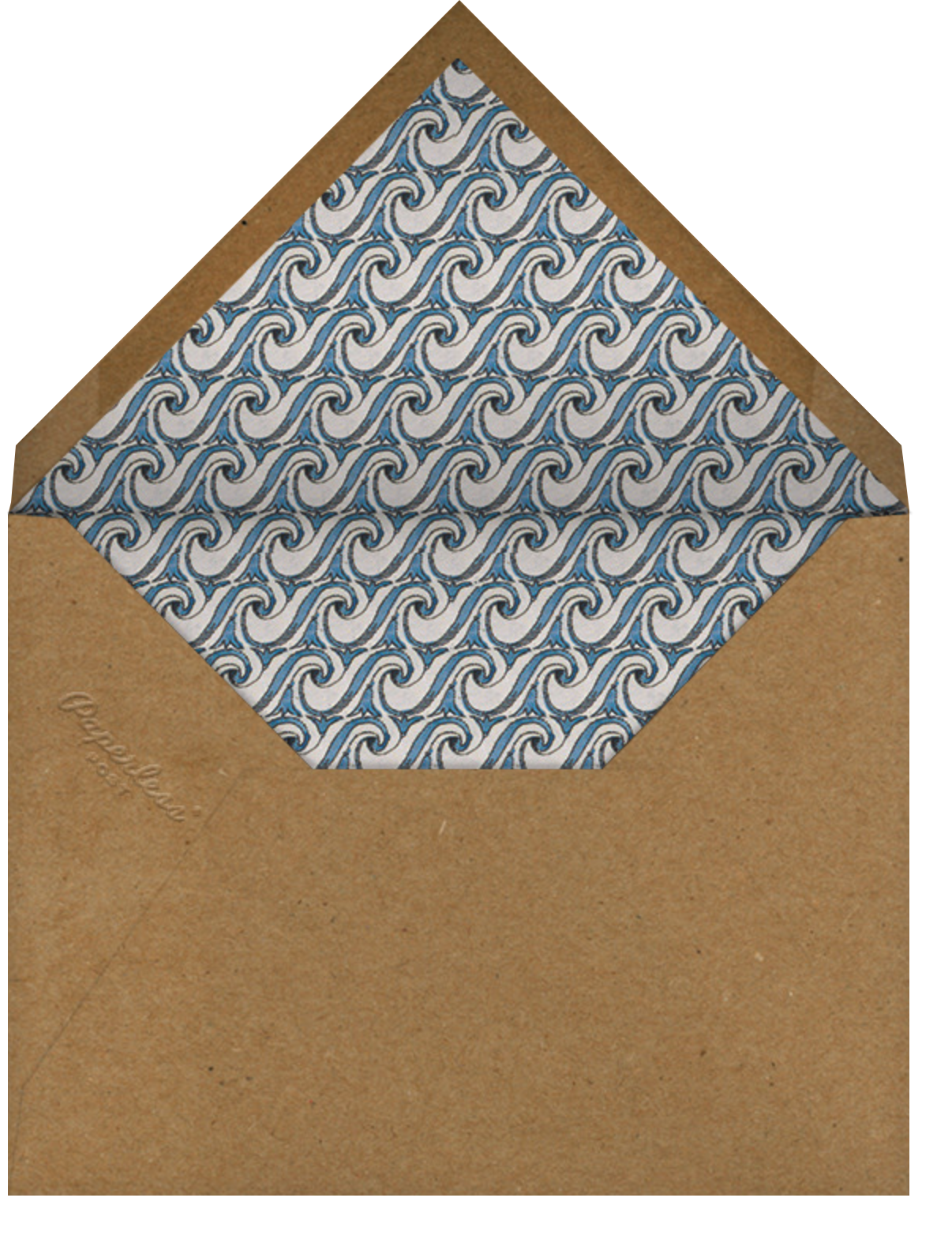 Rope and Waves (Square) - John Derian - Beach party - envelope back