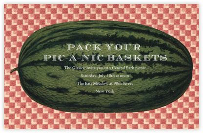 Picnic Watermelon - John Derian - Summer Entertaining Invitations