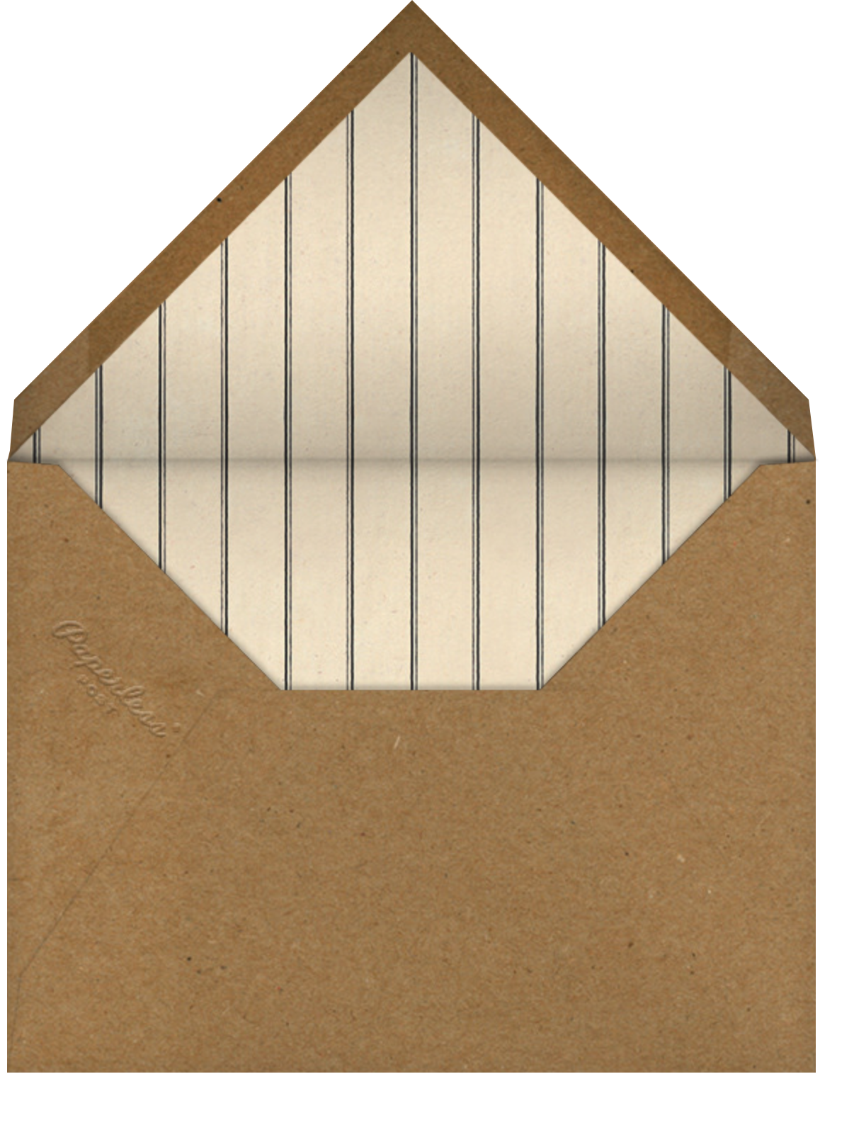 Woodframe - John Derian - Barbecue - envelope back