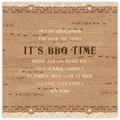 Woodframe - John Derian - Summer Party Invitations