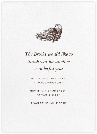 White (Tall) - Paperless Post - Thanksgiving invitations