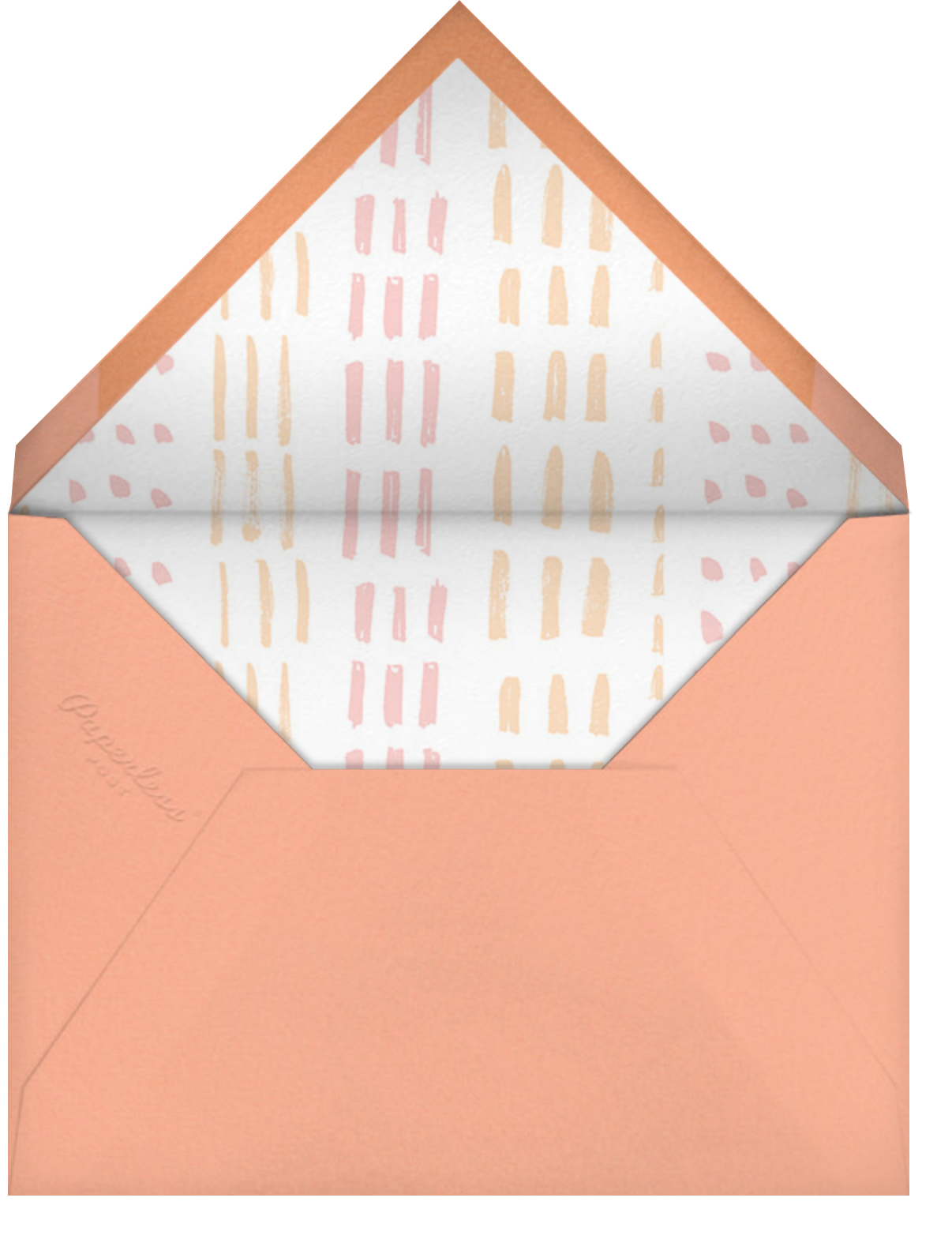 White (Tall) - Paperless Post - Woodland baby shower - envelope back