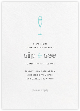 White (Tall) - Paperless Post - Sip and see invitations