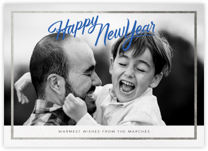 New Year Trim (Horizontal) - Silver - Paperless Post -