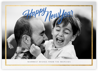 New Year Trim (Horizontal) - Gold - Paperless Post - New Year Cards
