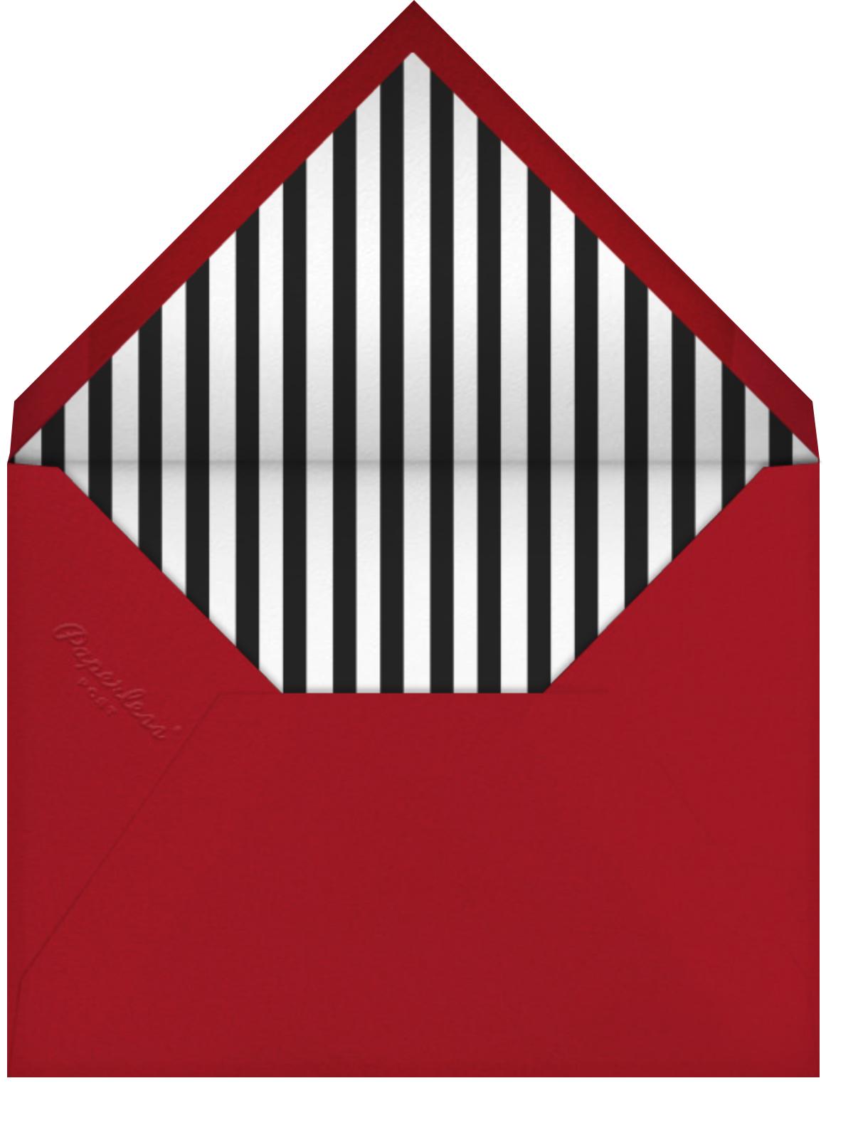 Circus Pyramid - Paperless Post - Kids' birthday - envelope back