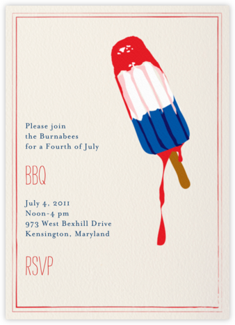 Melting Rocket Ship - Lipstick - Mr. Boddington's Studio - Summer Party Invitations