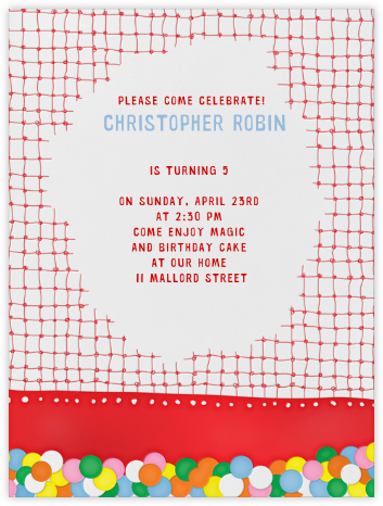 Ball Pit - Paperless Post - Online Kids' Birthday Invitations