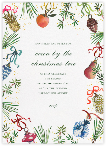 Bauble Bundle - Happy Menocal - Holiday invitations