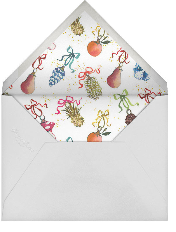 Bauble Bundle - Happy Menocal - Company holiday party - envelope back