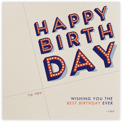 Happy Birthday To Who? - Paperless Post - Online Greeting Cards