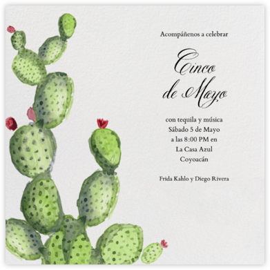 Nopal - Paperless Post - Cinco de Mayo Invites