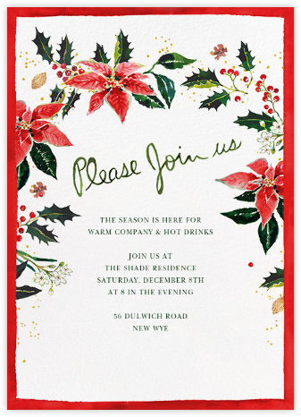Holiday Harvest (Invitation) - Happy Menocal - Winter Party Invitations
