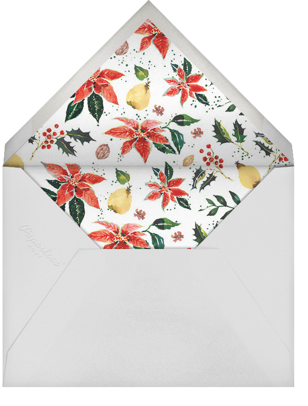 Holiday Harvest (Invitation) - Happy Menocal - Winter entertaining - envelope back