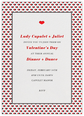 Love Saves The Date Tall - Red - Paperless Post - Invitations