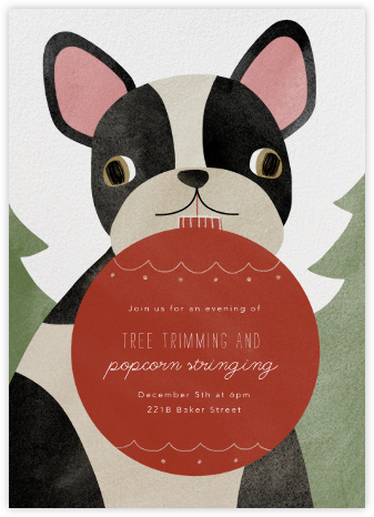 Boston Terrier Ornament - Paperless Post - Invitations