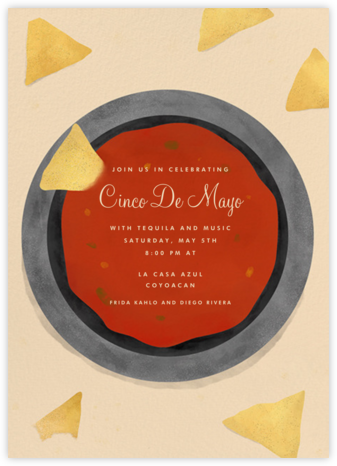 Chips And Salsa - Paperless Post - Cinco de Mayo Invitations