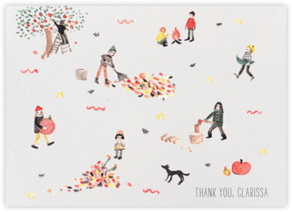 Fall (Sarah Burwash) - Red Cap Cards - Online Thank You Cards