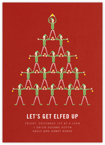 Stacked Elves - Paperless Post - Invitations