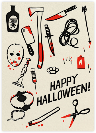 Killer Halloween (Greeting) - Hello!Lucky - Halloween cards