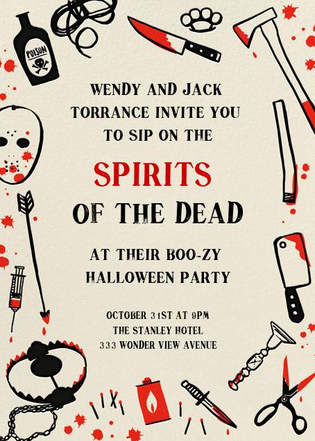 Killer Halloween (Invitation) - Hello!Lucky - Halloween invitations