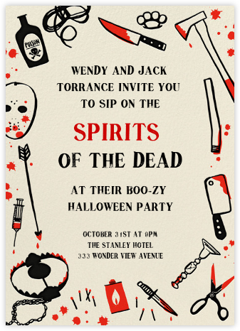 Killer Halloween (Invitation) - Hello!Lucky - Halloween invitations