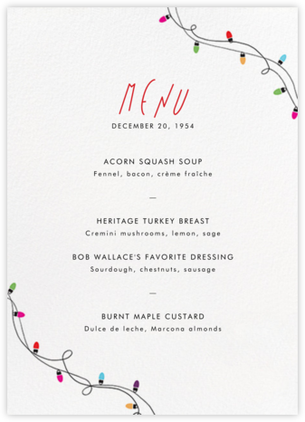Holiday Lights (Menu) | tall