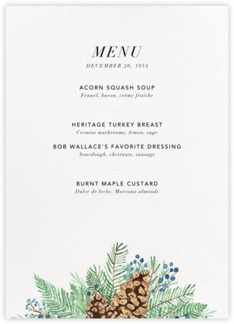 Juniper and Pine (Menu) | tall