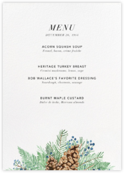 Juniper and Pine (Menu)
