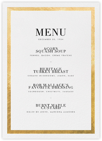 Editorial II (Menu) - Gold | tall