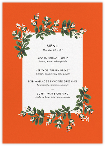 Mistletoe Accent Flourish (Menu) - Rifle Paper Co. -